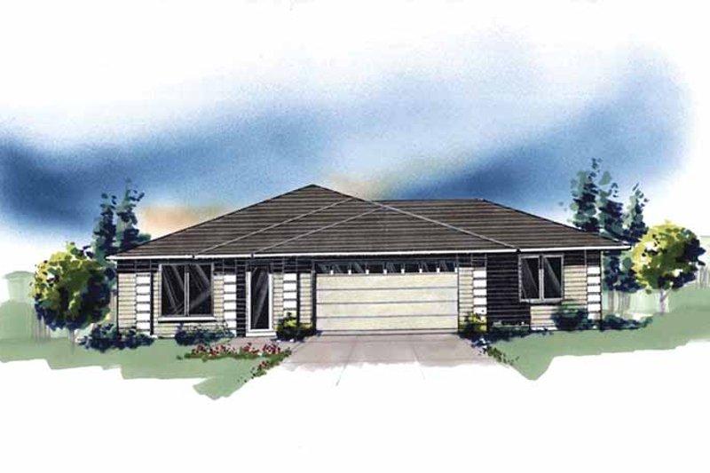 Prairie Exterior - Front Elevation Plan #509-248