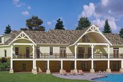 Craftsman Style House Plan - 3 Beds 3.5 Baths 2531 Sq/Ft Plan #119-426 Exterior - Rear Elevation
