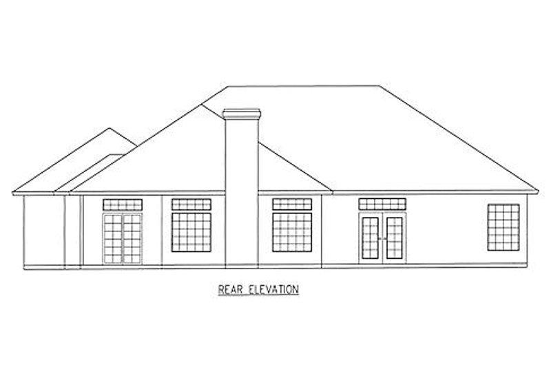 Southern Exterior - Rear Elevation Plan #437-17 - Houseplans.com