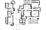 Contemporary Style House Plan - 5 Beds 5 Baths 2988 Sq/Ft Plan #912-1 Floor Plan - Main Floor Plan
