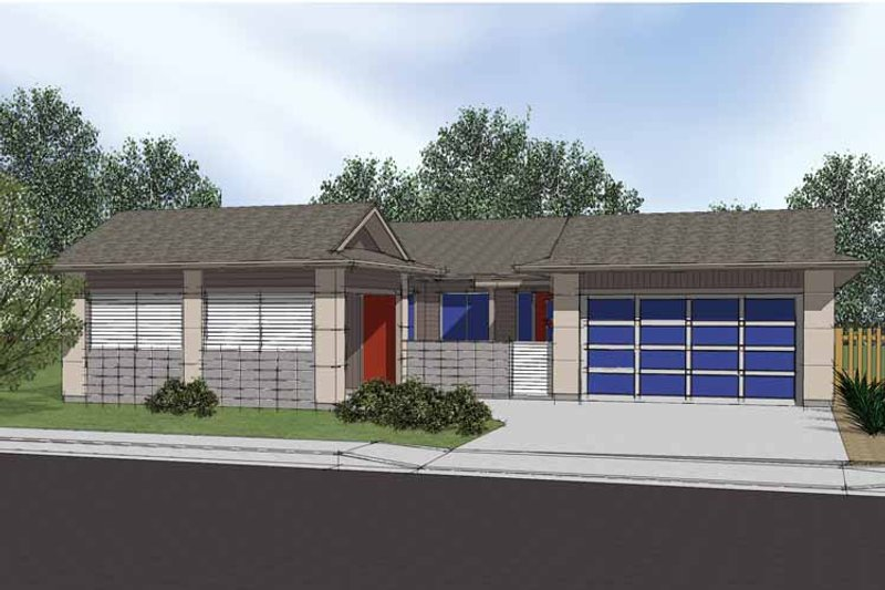 Traditional Exterior - Front Elevation Plan #569-7 - Houseplans.com