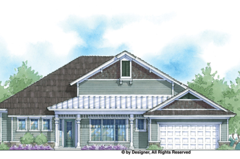 Country Exterior - Front Elevation Plan #938-68 - Houseplans.com