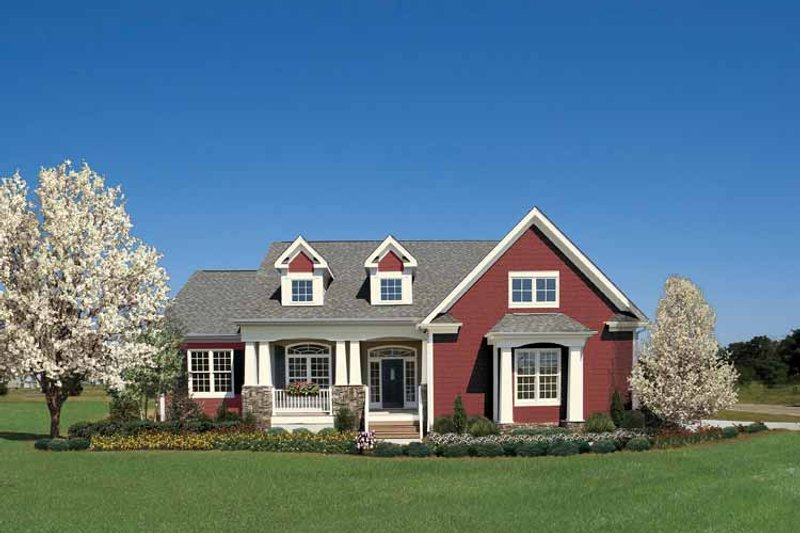Ranch Exterior - Front Elevation Plan #929-745