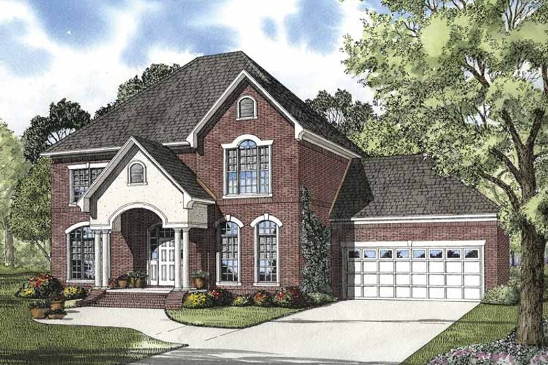 Traditional Exterior - Front Elevation Plan #17-2848 - Houseplans.com