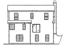 Country Exterior - Rear Elevation Plan #927-36