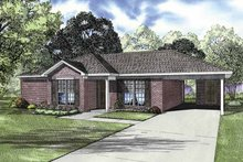 Ranch Exterior - Front Elevation Plan #17-2844
