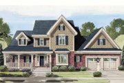 Country Style House Plan - 4 Beds 2.5 Baths 2879 Sq/Ft Plan #46-777 Exterior - Front Elevation