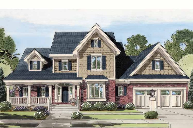 House Plan Design - Country Exterior - Front Elevation Plan #46-777