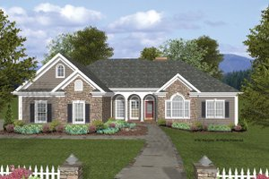 Home Plan Design - Craftsman Exterior - Front Elevation Plan #56-685