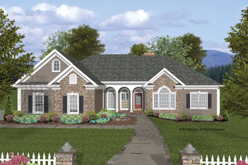 House Plan Design - Craftsman Exterior - Front Elevation Plan #56-685