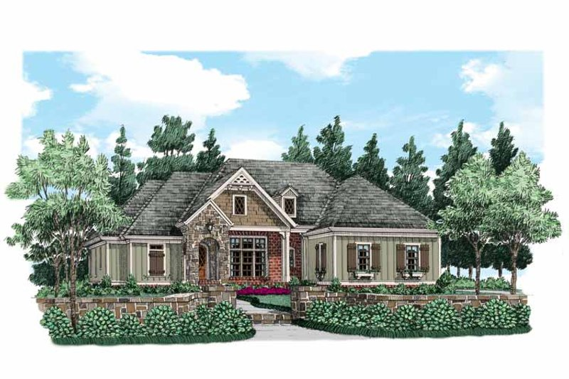 Traditional Exterior - Front Elevation Plan #927-497 - Houseplans.com