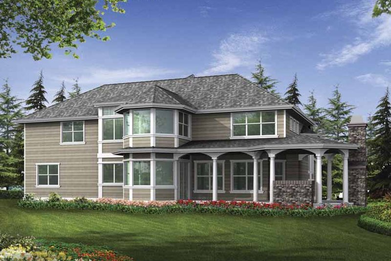 Craftsman Exterior - Rear Elevation Plan #132-501 - Houseplans.com