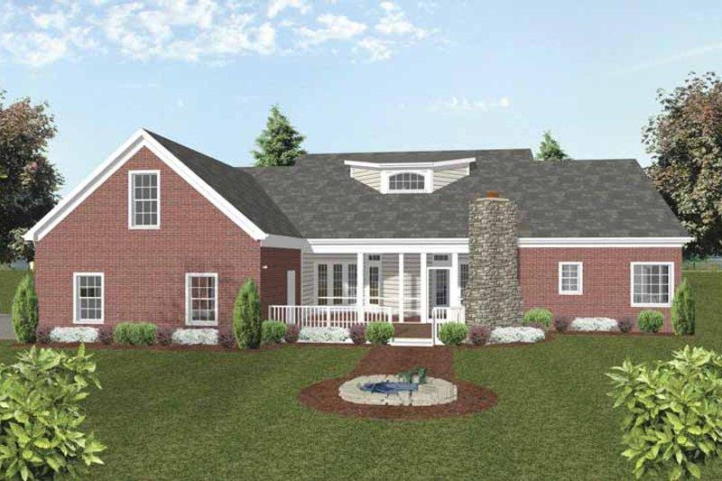 Traditional Exterior - Rear Elevation Plan #56-693 - Houseplans.com
