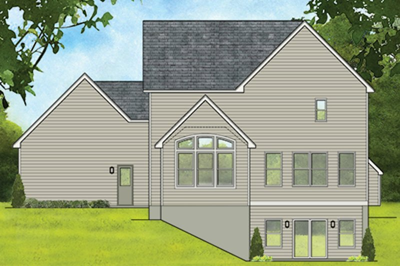 Traditional Exterior - Rear Elevation Plan #1010-186 - Houseplans.com