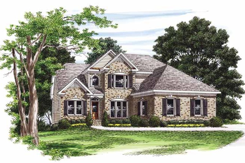 Colonial Exterior - Front Elevation Plan #927-550
