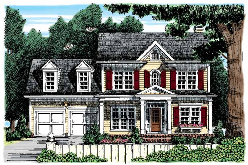 Classical Exterior - Front Elevation Plan #927-853