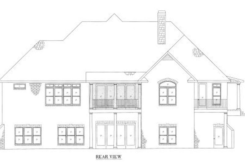 European Exterior - Other Elevation Plan #437-51 - Houseplans.com