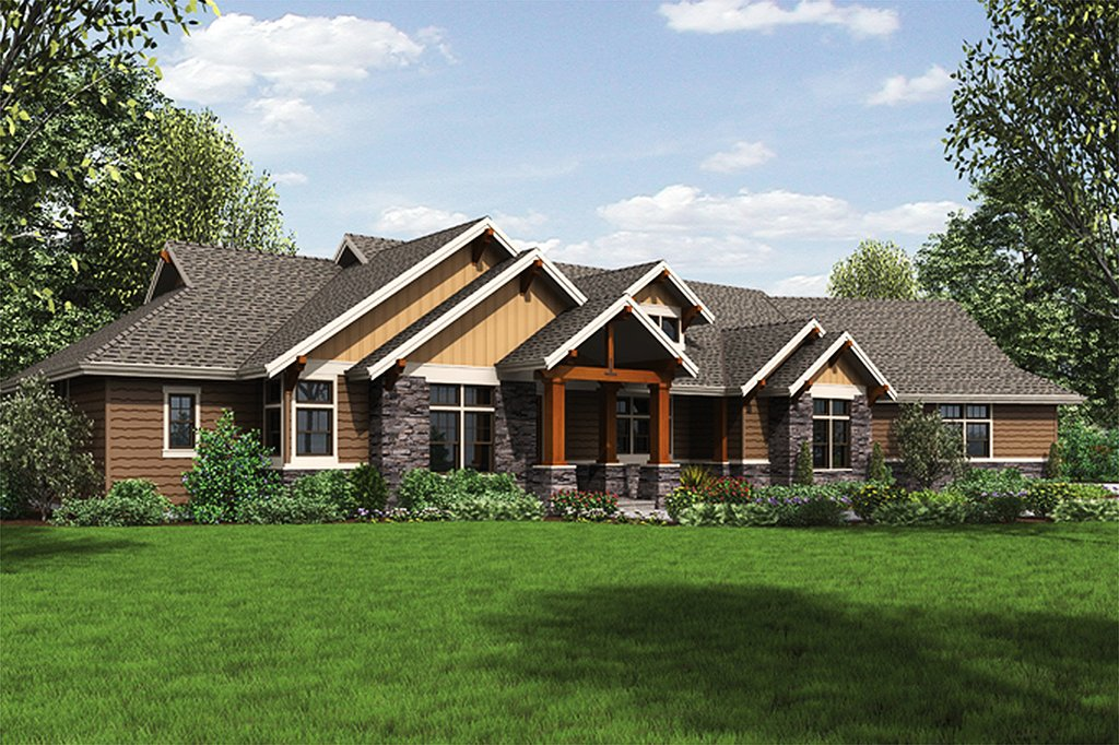 Ranch style house plan 3 beds 3 baths 2910 sq ft plan for Weinmaster house plans