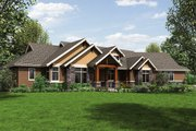Ranch Style House Plan - 3 Beds 3 Baths 2910 Sq/Ft Plan #48-712 Exterior - Front Elevation