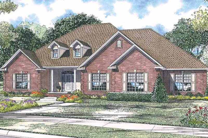 Architectural House Design - Country Exterior - Front Elevation Plan #17-2916