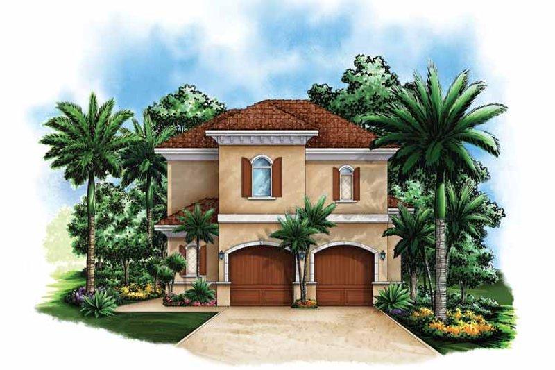 Mediterranean Exterior - Front Elevation Plan #1017-116 - Houseplans.com
