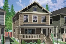 Dream House Plan - Craftsman Exterior - Front Elevation Plan #303-473