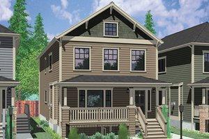 Dream House Plan - Craftsman Exterior - Front Elevation Plan #303-473
