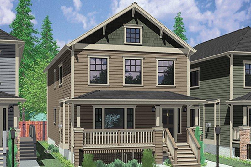 Architectural House Design - Craftsman Exterior - Front Elevation Plan #303-473