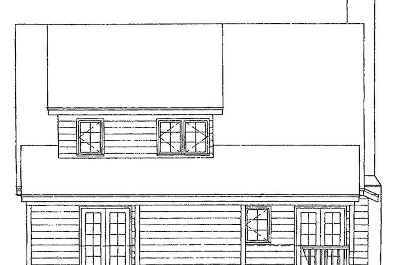 Country Exterior - Rear Elevation Plan #929-112 - Houseplans.com