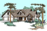 Traditional Style House Plan - 4 Beds 2.5 Baths 2612 Sq/Ft Plan #60-454 Exterior - Front Elevation