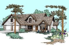 Dream House Plan - Traditional Exterior - Front Elevation Plan #60-454