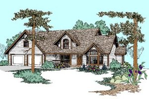Traditional Exterior - Front Elevation Plan #60-454