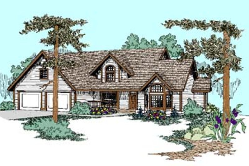 Traditional Exterior - Front Elevation Plan #60-454 - Houseplans.com