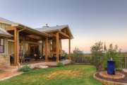 Ranch Style House Plan - 4 Beds 3.5 Baths 3258 Sq/Ft Plan #935-6 Exterior - Rear Elevation