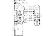 Mediterranean Style House Plan - 6 Beds 4.5 Baths 4391 Sq/Ft Plan #930-355 Floor Plan - Main Floor
