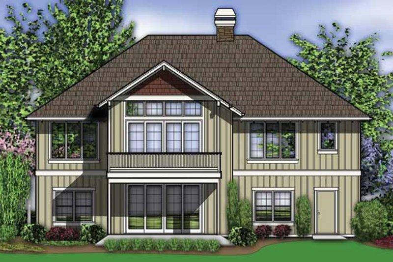 Traditional Exterior - Rear Elevation Plan #48-860 - Houseplans.com