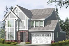 Dream House Plan - Prairie Exterior - Front Elevation Plan #132-365