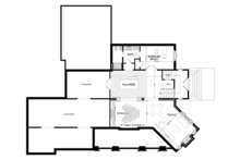 Craftsman Floor Plan - Lower Floor Plan Plan #928-295