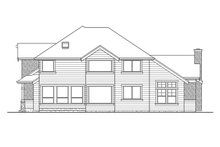 Craftsman Exterior - Rear Elevation Plan #132-406