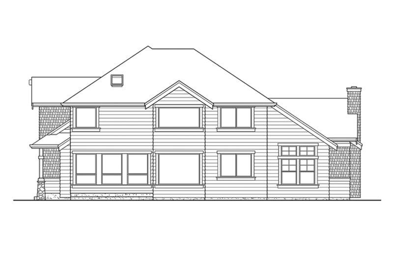 Craftsman Exterior - Rear Elevation Plan #132-406 - Houseplans.com