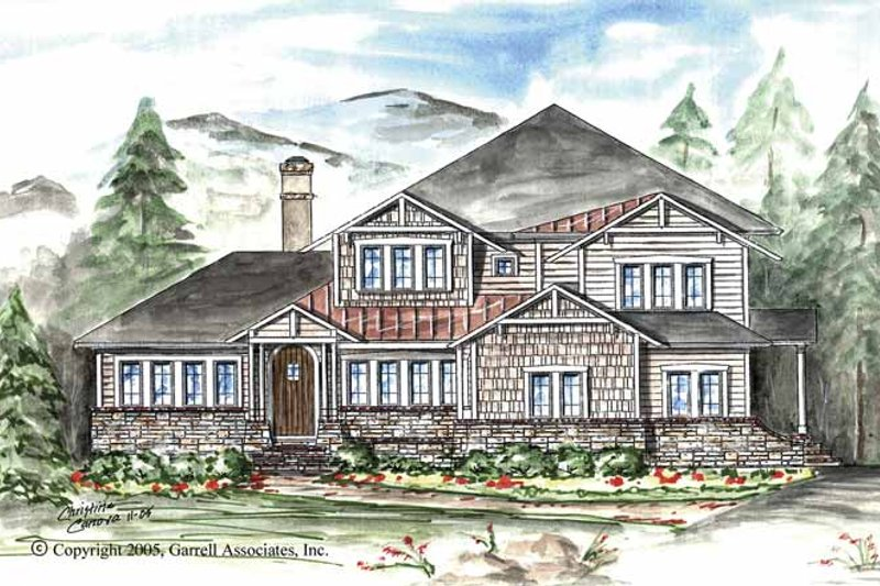 Craftsman Exterior - Front Elevation Plan #54-264