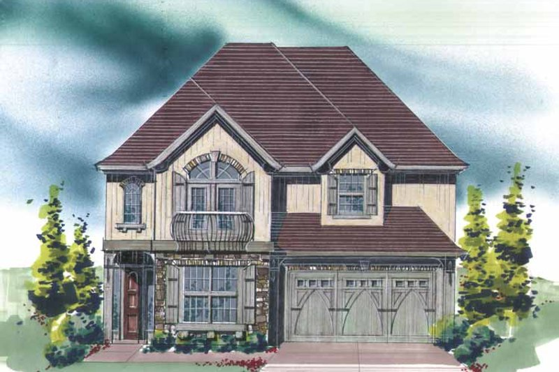Traditional Exterior - Front Elevation Plan #509-431 - Houseplans.com