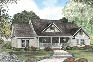 Colonial Exterior - Front Elevation Plan #17-2760