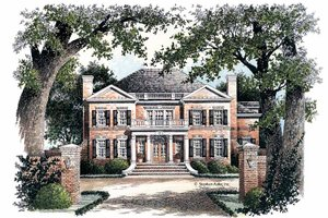 Home Plan Design - Classical Exterior - Front Elevation Plan #429-68