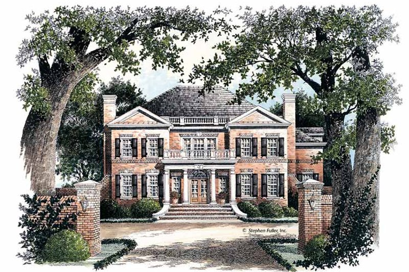Classical Exterior - Front Elevation Plan #429-68