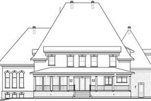 European Exterior - Rear Elevation Plan #23-843
