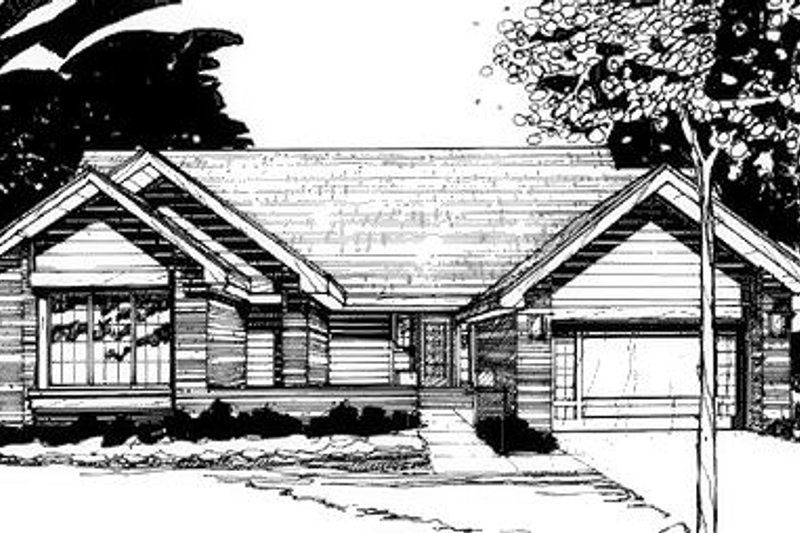 Traditional Exterior - Front Elevation Plan #320-441 - Houseplans.com