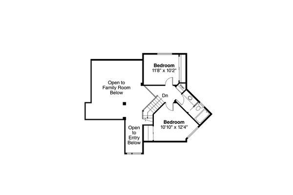 Ranch Floor Plan - Upper Floor Plan Plan #124-129