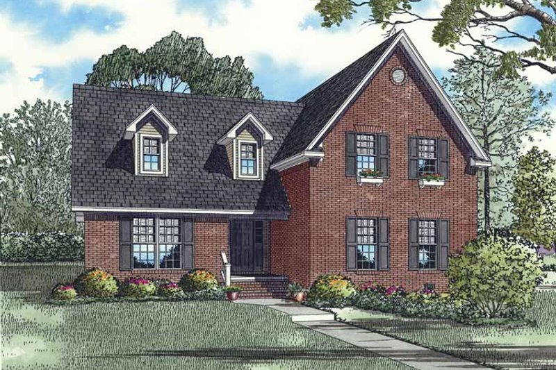 Dream House Plan - Traditional Exterior - Front Elevation Plan #17-3293
