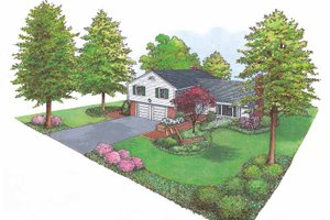 Dream House Plan - Ranch Exterior - Front Elevation Plan #1040-29